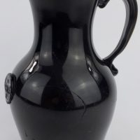 Very Rare Scottish Black Glass Sealed & Dated Ale/Wine Jug Charles Mc Farlane?
