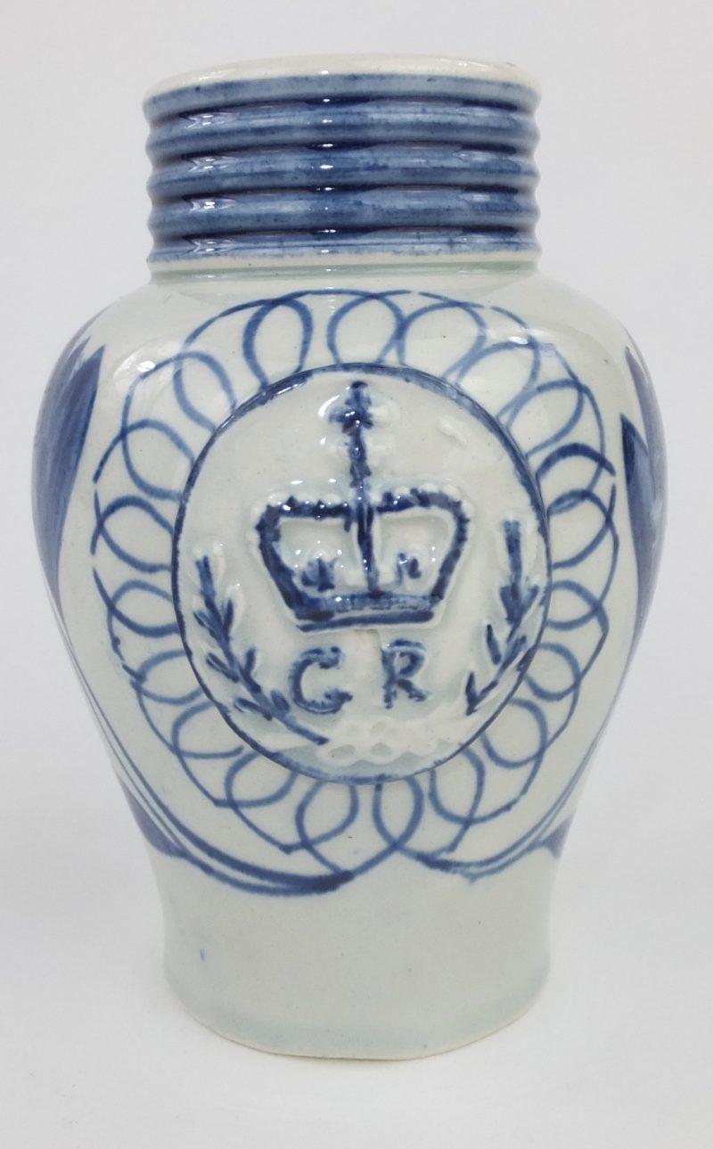 Rare GR Pearlware Pottery Mustard Pot
