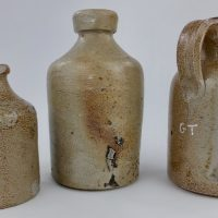 Early English Stoneware Blacking Jar