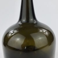 Antique Glass Mallet Shaped Wine Bottle