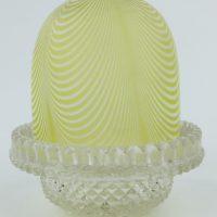Antique Nailsea Glass Clarkes Fairy Lamp