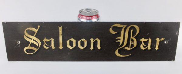 Saloon Bar Wooden Sign