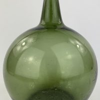 Globular Apple Green Glass Onion Bottle