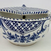 Rare Faience Tin Glazed Pottery Invalid Feeder
