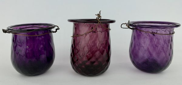 Purple Freeblown Fairy Lamps