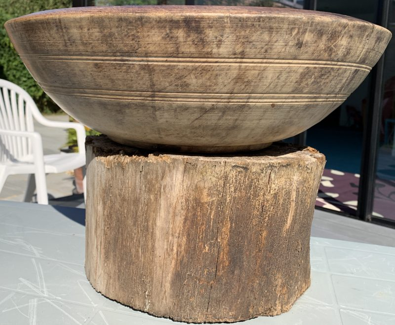 Antique Treen Dairy Bowl
