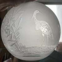 Beautiful Frosted Oil Lamp Shade