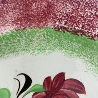 Spongeware Spatterware Rose Pottery Plate