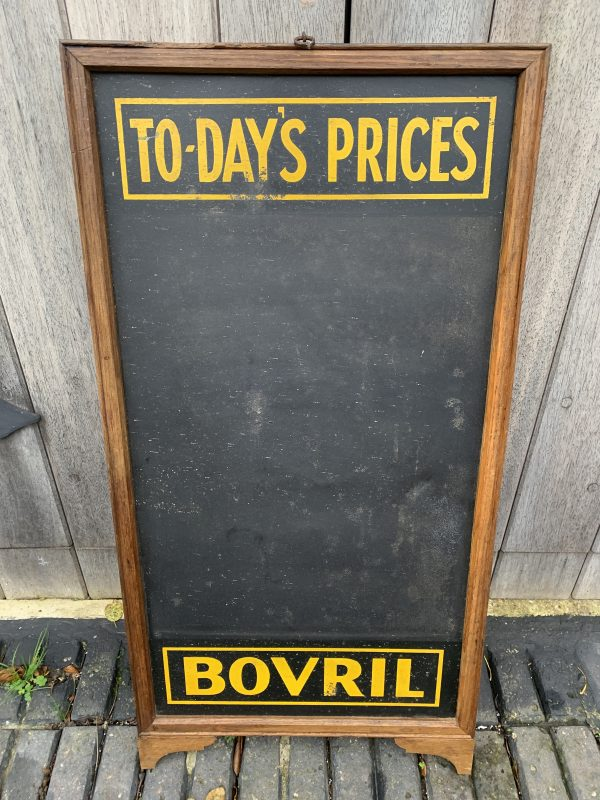 Bovril Advertising Restaurant Shop Tin Black Board