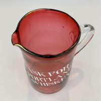 Cranberry Glass Whisky Water Pub Jug Worksop Retford Brewery Co
