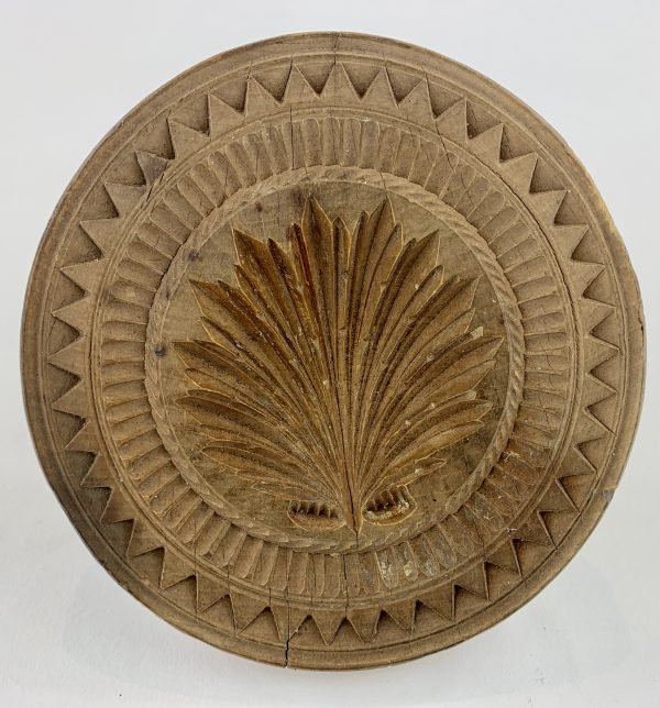 Large Acanthus Leaf Treen Butter Stamp