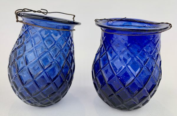 Blue Glass Pontilled Fairy Lamps Stoneleigh Abbey