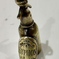 Rare Soda Syphon Siphon Novelty Brass Cigar Cutter