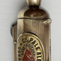Bass Ale Brass Vesta Case Cigar Cutter Match Striker