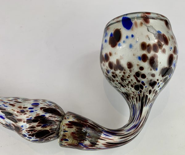 Antique Nailsea Glass Whimsy Pipe