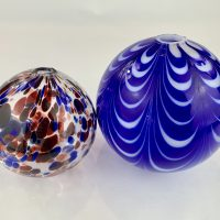 Antique Blue/Red Glass Witch Ball