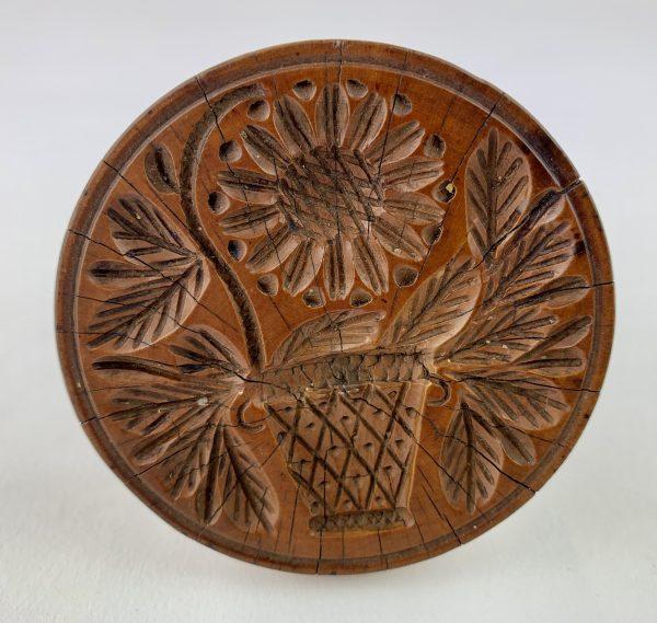 Sunflower Treen Butter Stamp
