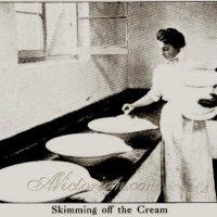 Large Ironstone Milk Cream Pan Copeland