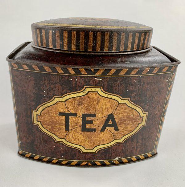 Antique Toleware Tea Tin Caddy