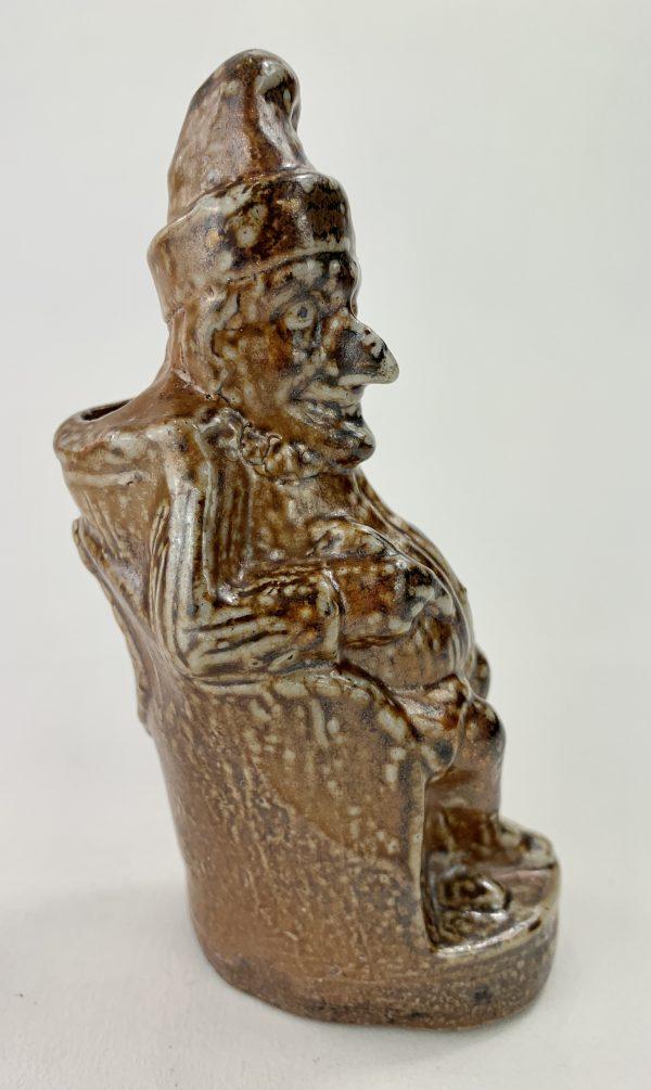 Rare Mr Punch Saltglaze Stoneware Ink Inkwell
