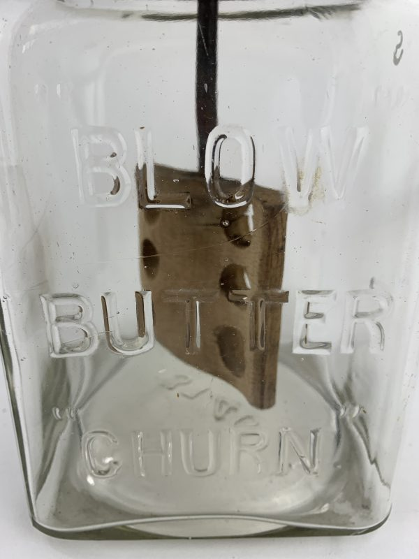 Rare Early Glass Blow Butter Churn