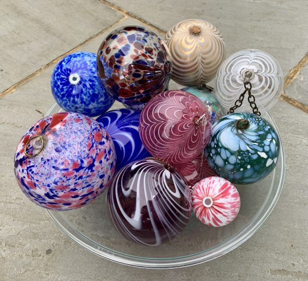 Antique Glass Witch Witches Balls