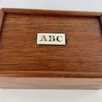 Antique ABC Bone Letters Educational Game