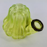 Uranium Glass Teakettle Ink Bottle