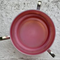 Satin Glass Fairy Lamp Silver Plate Holder