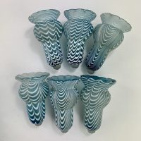 Nailsea Glass Fairy Lamp Epergne Posy Holders