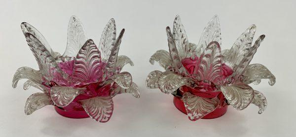 Cranberry Glass Fairy Lamp Petals