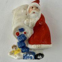 Antique Bisque Santa Cake Decoration German