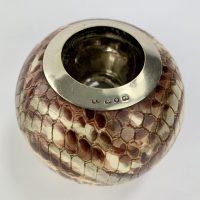 Rare Snakeskin Pottery Match Striker Vesta Match holder